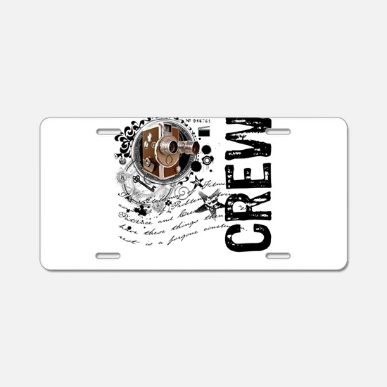 Film Crew Alchemy Aluminum License Plate