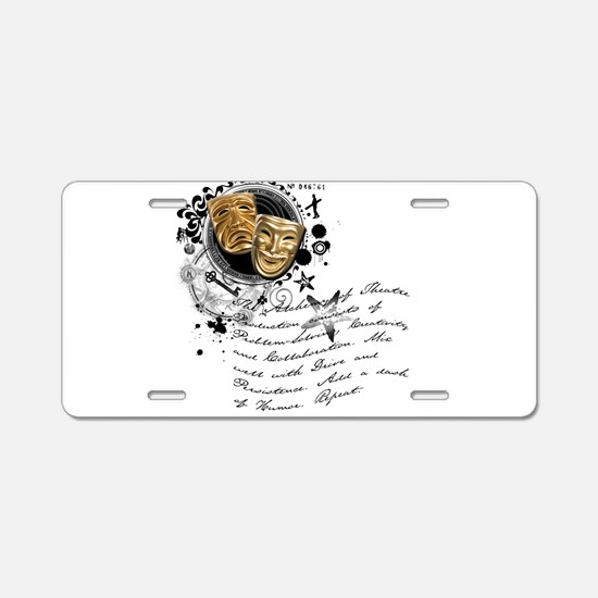 Theatre Production Alchemy Aluminum License Plate