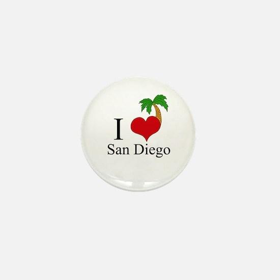 San Diego Mini Button