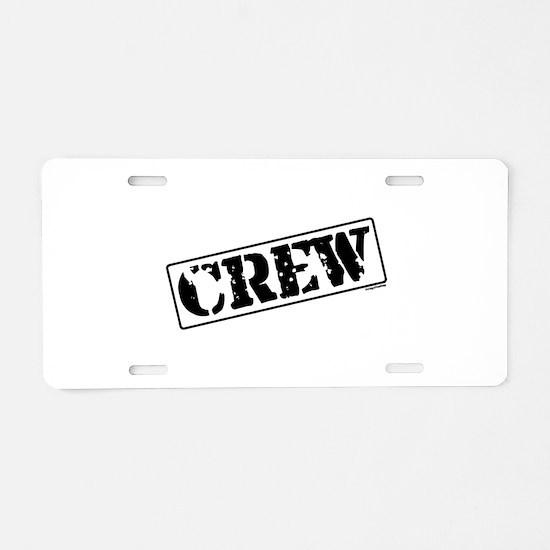Crew Stamp Aluminum License Plate