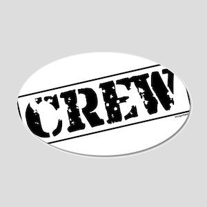 Crew Stamp 22x14 Oval Wall Peel