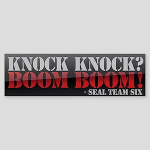 Knock Knock? It's the Seals! Sticker (Bumper)