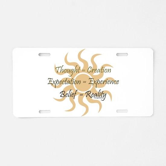 Three Rules Aluminum License Plate