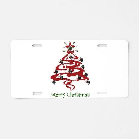 Actors' Christmas Tree Aluminum License Plate