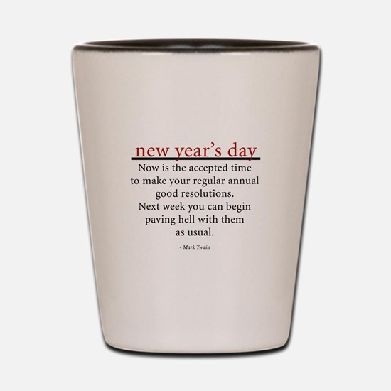 New Year's Day Shot Glass