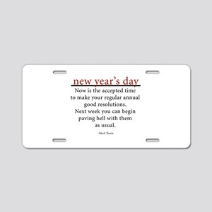 New Year's Day Aluminum License Plate