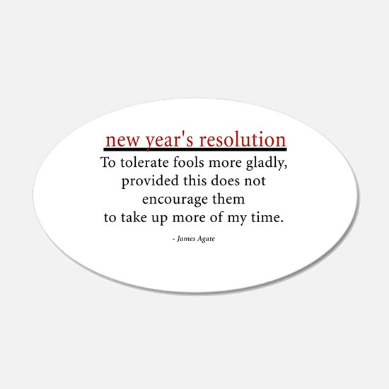 New Year's Resolution 22x14 Oval Wall Peel