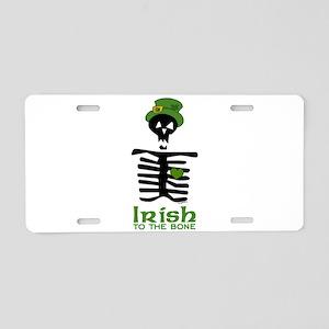 Irish to the Bone Aluminum License Plate