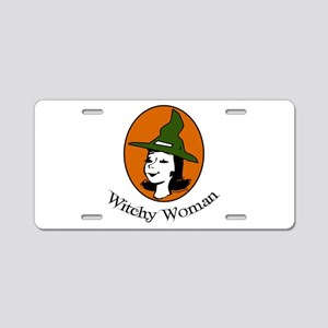 Witchy Woman Aluminum License Plate