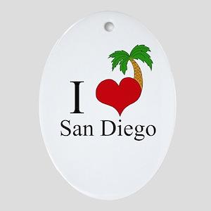 San Diego Ornament (Oval)
