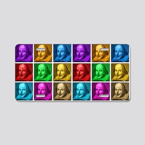 Shakespeare Pop Art Aluminum License Plate