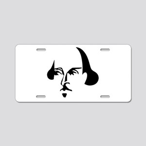 Simple Shakespeare Aluminum License Plate