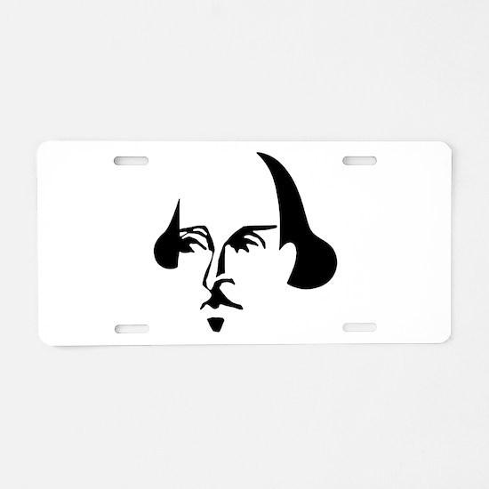 Simple Shakespeare Aluminum License Plate