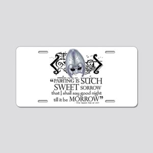 Romeo & Juliet Aluminum License Plate