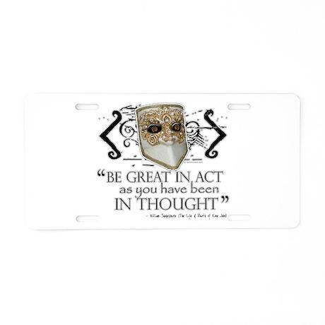 King John Aluminum License Plate