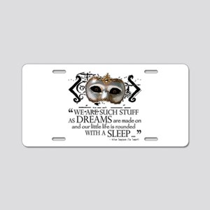 The Tempest Aluminum License Plate
