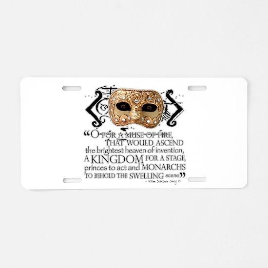Henry V Aluminum License Plate
