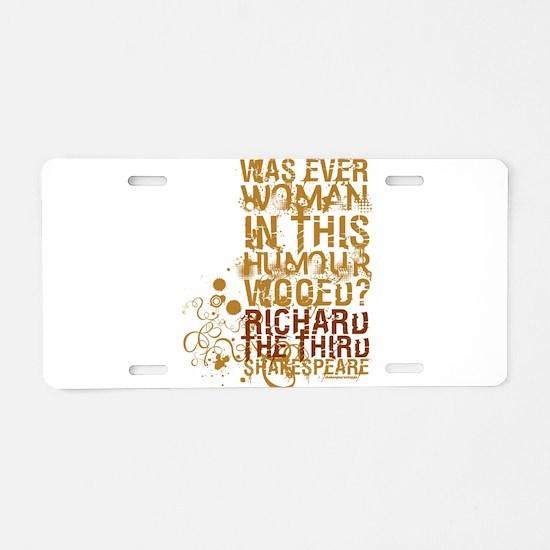 Richard III Aluminum License Plate