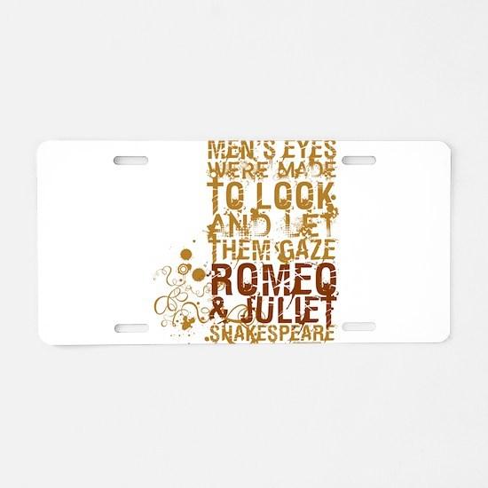 Romeo & Juliet Aluminum License Plate