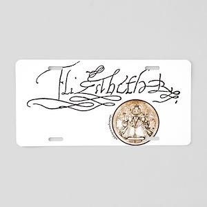 Elizabeth I Signature Aluminum License Plate