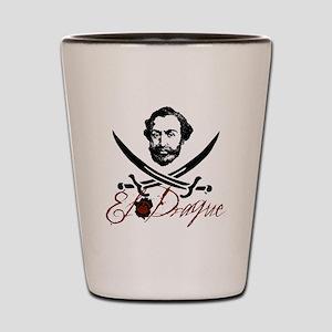 El Draque Pirate Insignia Shot Glass