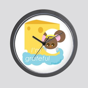 """I'm grateful"" Wall Clock"