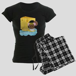 """I'm grateful"" Women's Dark Pajamas"