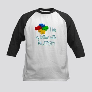 I love my brother with autism Kids Baseball Jersey
