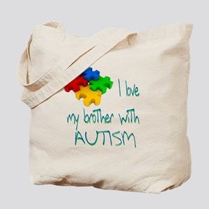 I love my brother with autism Tote Bag