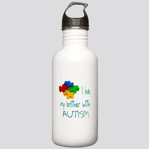 I love my brother with autism Stainless Water Bott
