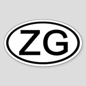 ZG - Initial Oval Oval Sticker