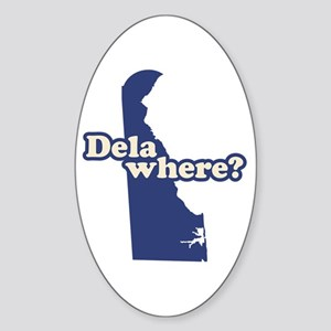 """Delaware"" Sticker (Oval)"