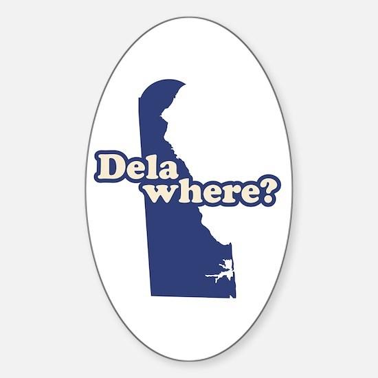 """Delaware"" Sticker (Oval)"