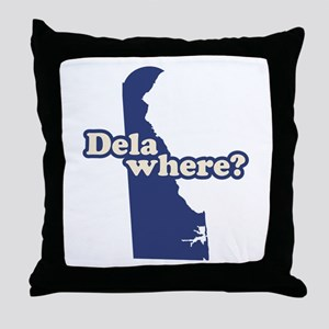 """Delaware"" Throw Pillow"