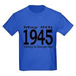 1945 - Victory Europe Day Kids Dark T-Shirt