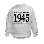 1945 - Victory Europe Day Kids Sweatshirt
