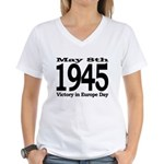 1945 - Victory Europe Day Women's V-Neck T-Shirt