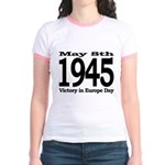 1945 - Victory Europe Day Jr. Ringer T-Shirt