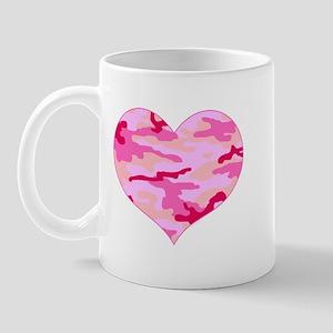 Pink Camo Heart Mug