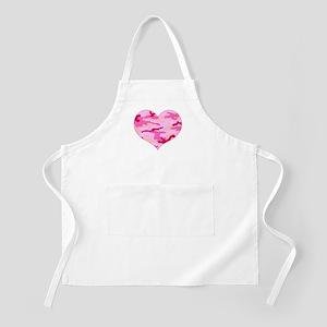 Pink Camo Heart Apron