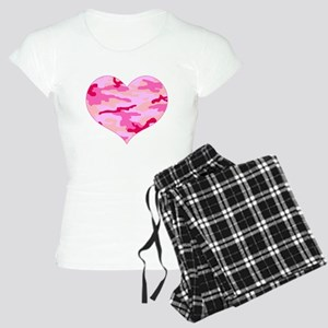 Pink Camo Heart Women's Light Pajamas