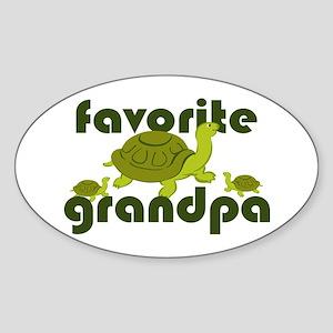 Favorite Grandpa Sticker (Oval)