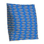 Sand Tiger Shark Burlap Throw Pillow