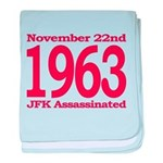 1963 - JFK Assassination baby blanket