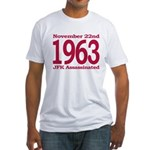 1963 - JFK Assassination Fitted T-Shirt