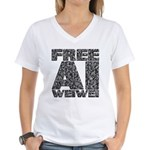 Free Ai Weiwei Women's V-Neck T-Shirt