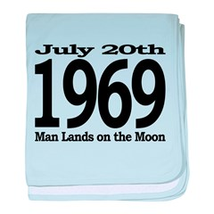 1969 - Man Lands on the Moon baby blanket