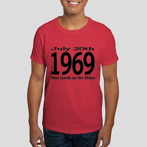 1969 - Man Lands on the Moon Dark T-Shirt