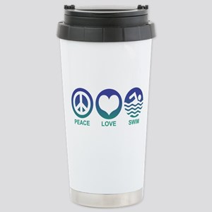 Peace Love Swim Stainless Steel Travel Mug