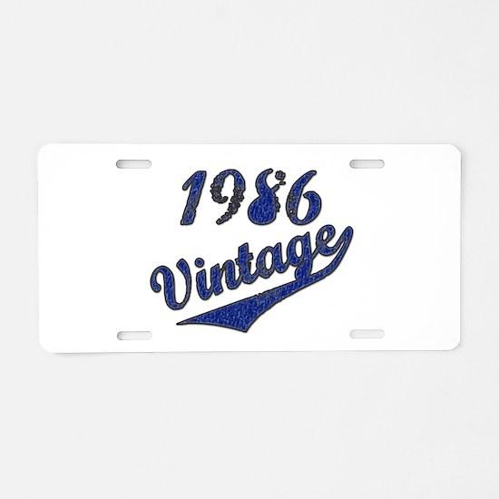 Unique 1986 Aluminum License Plate